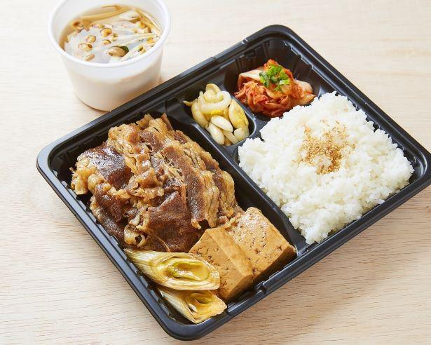 厳選した牛肉をたっぷり使った「厳選牛すきしゃぶ弁当」※ご飯大盛りは+100円