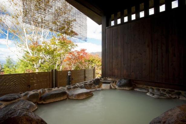 蔵王アストリアホテルの「絶景露天の湯」は、100%源泉かけ流し
