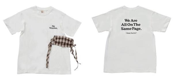 【写真】チャリティTシャツ&チェック柄布マスク