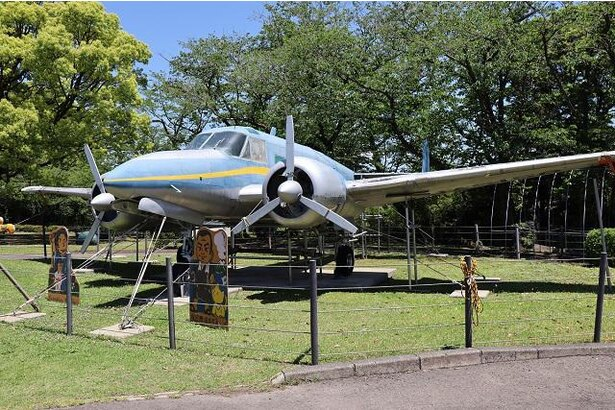 かつて海上保安庁で活躍した航空機も