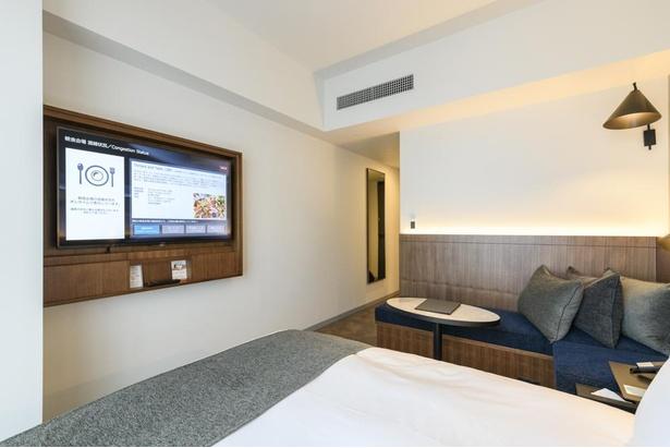 スタンダートクイーンはバスルームも清潔感のある白が基調色に採用されるなど、女性客におすすめ