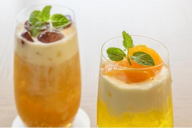 甘いクリームチーズとフルーツの爽やかな酸味が相まった新味覚ドリンクを味わおう
