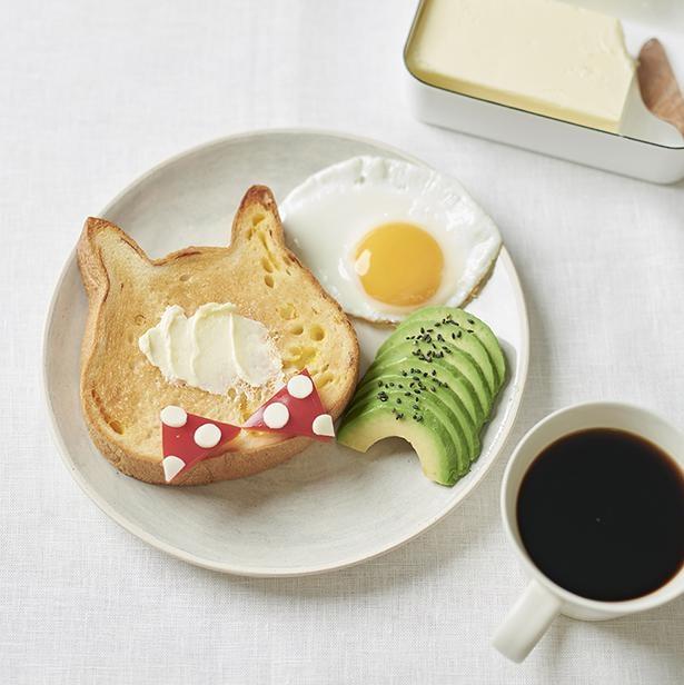 ねこねこ食パンを使えば、朝食プレートがもっとかわいく!