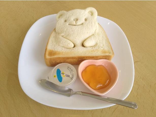 かわいすぎて食べられない!?「ピーストースト」(税込300円)