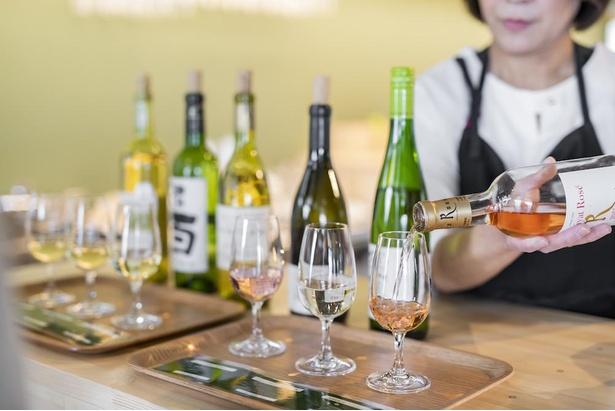 赤、白、ロゼなどの多彩なワインが味わえるので、お気に入りをお土産にするのもアリ