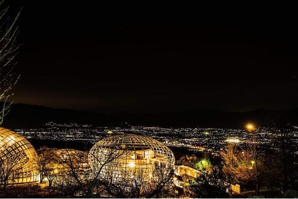 市内を見渡せる大パノラマの夜景