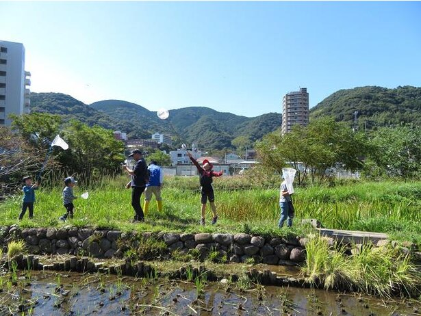 長崎の里山を再現した「ビオトープ」