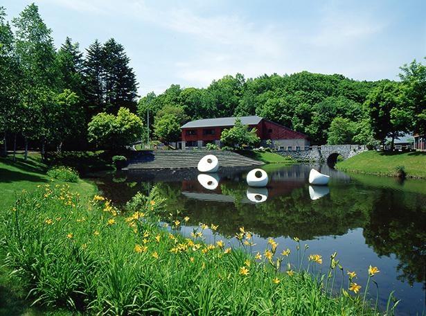 【写真】緑や池に囲まれた開放的な園内