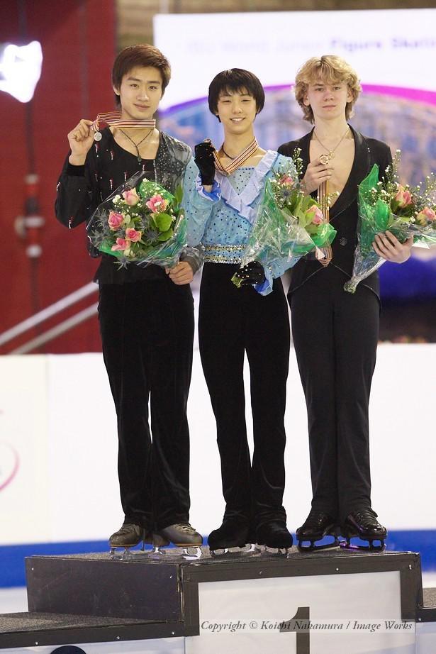 男子表彰式にて。2位ナン・ソン、3位ガチンスキー