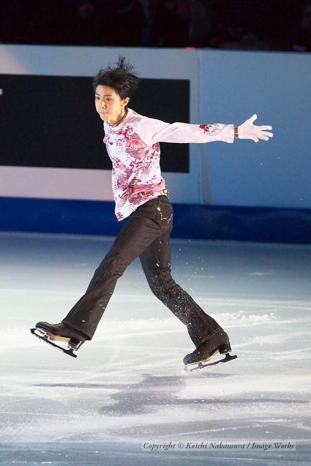 羽生結弦、2010世界ジュニア選手権でのエキジビションの演技