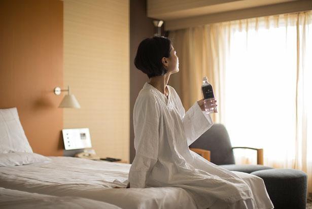 【写真】ずっと着ていたくなる肌触りのオリジナルリラックスウェアは、国産綿100%の交織二重ガーゼというこだわり/ホテルニューオータニ大阪