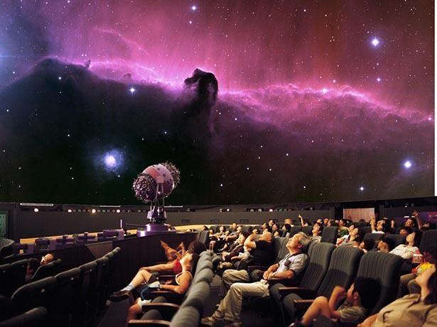 9等星まで鮮明に再現する光学式プラネタリウムと臨場感あふれる映像の空間を演出