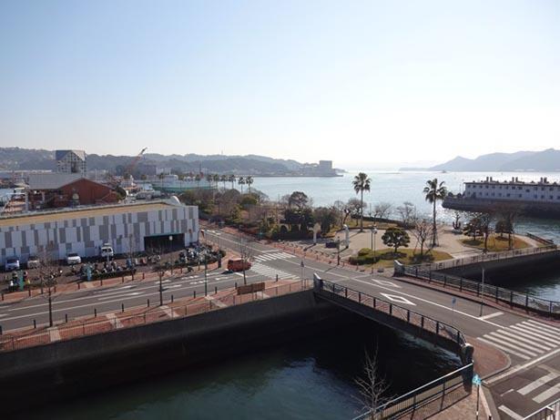 佐世保港を一望できる景観の良い公園
