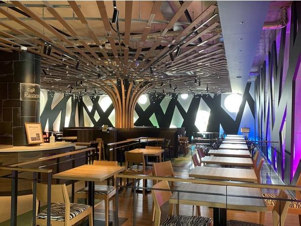 水の恵み、大地の恵み、森の恵みの3つのエリアで構成された「カフェ ラソンブレ」