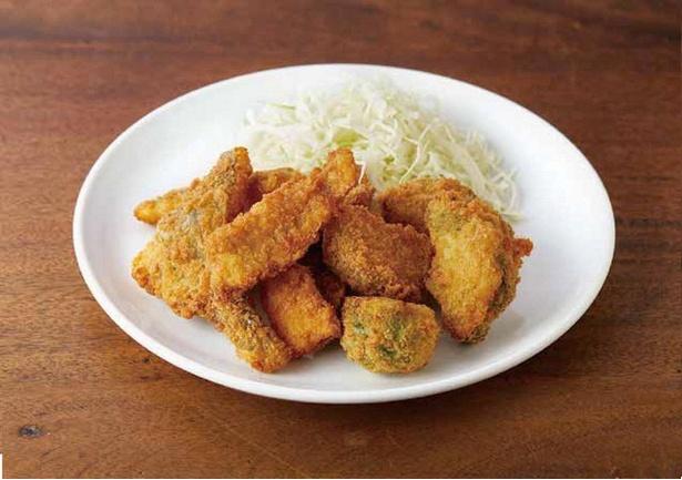 地元で取れた食材を贅沢に使った「福岡ぎょれんのミックスフライ」(税込1500円)