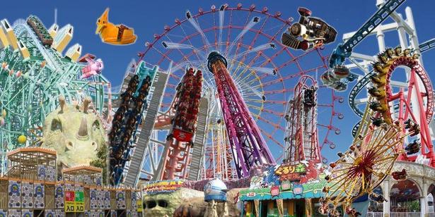 アトラクション数が81機種と日本一を誇るビックな遊園地