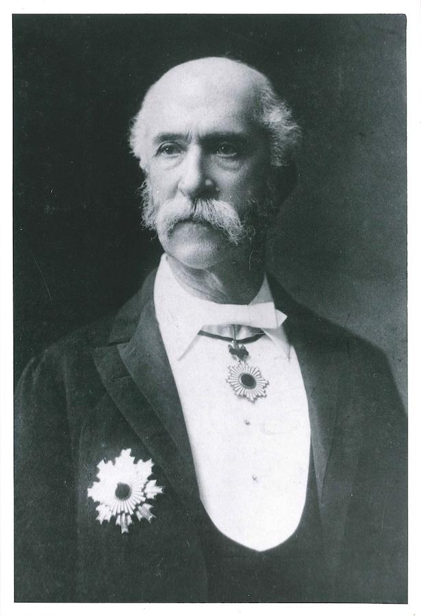 トーマス・ブレーク・グラバー氏。晩年には、日本の近代化に貢献したとして、勲二等旭日重光章を日本政府から授与された