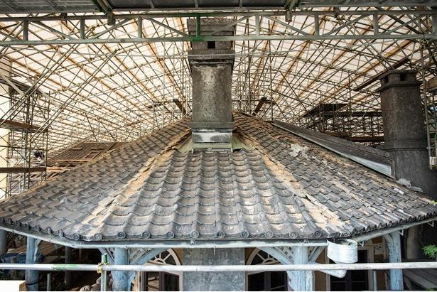 旧グラバー邸は保存修理工事中。詳細は公式サイト参照