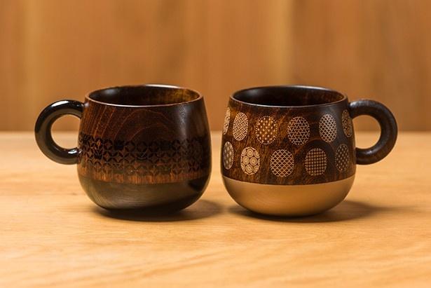 「JIMOTO made」シリーズでは初となる木でできたマグカップ。国産の広葉樹が使用されたこだわりの一品