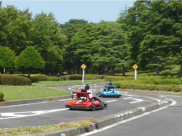 「ゴーカート」は1人乗り1台220円、2人乗り1台330円。小学4年生以上から乗車可能