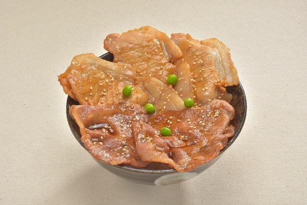 ソフトドリンク飲み放題がセットになった「道産豚の豚丼」