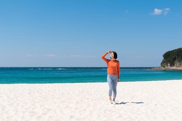 白い砂浜と青い海!風がとても気持ちいい /白良浜