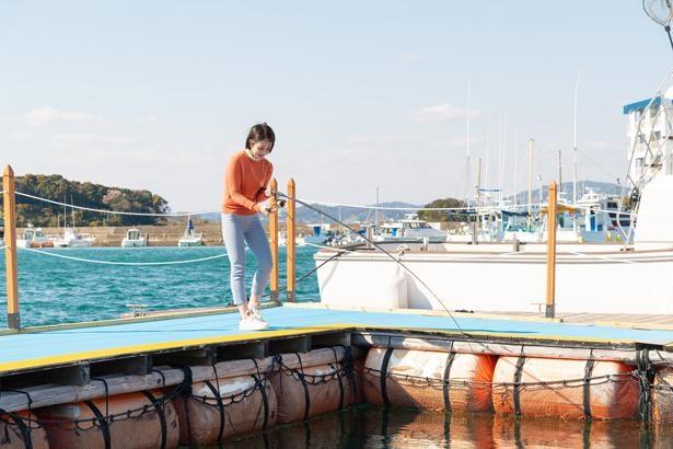 養殖するサバをはじめ、タイやアジが釣れる海上釣り堀。釣った魚に応じて料金が変動する/和歌山県おさかな村