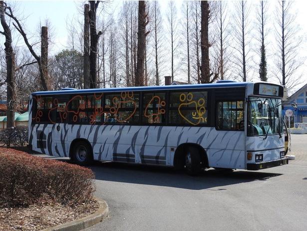 園内を移動するのに便利なシャトルバス「アニ丸ぶーぶー」※2020年6月現在営業見合わせ