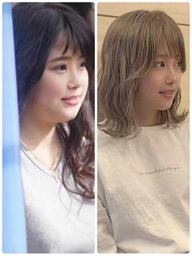 19歳の頃と現在の比較。顔まわりがスッキリしている