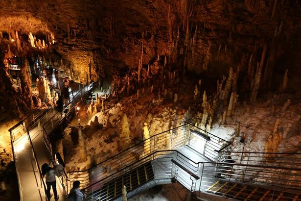 長大な鍾乳洞のうち、890メートル部分を見学可能