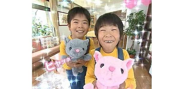 まえだまえだの2人もこの笑顔!「ゴロゴロニャーゴ」
