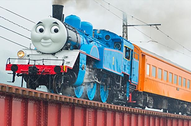 【写真】迫力満点のきかんしゃトーマス号に乗車しよう!