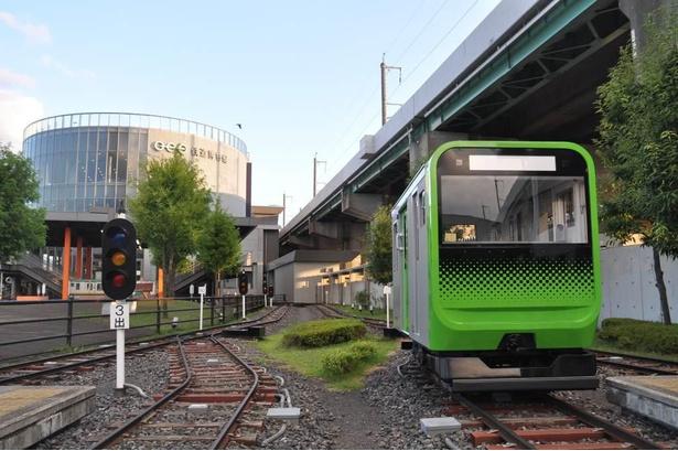 「ミニ運転パーク」ではミニ列車を運転できる