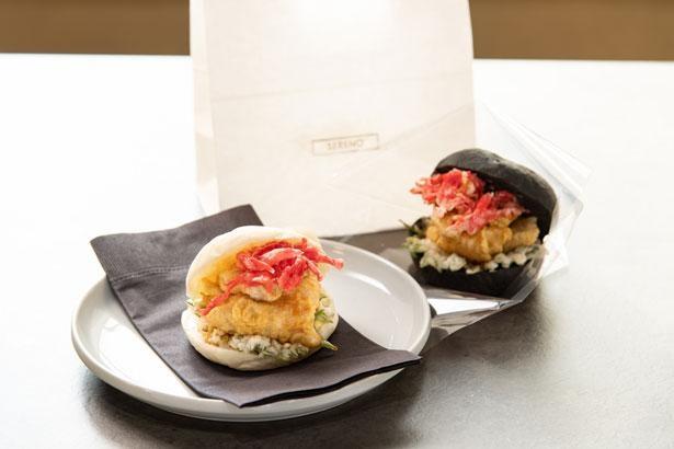 仕入れる魚によって調理法やソースが変わるフィッシュサンド/SERENO sea food&cafe