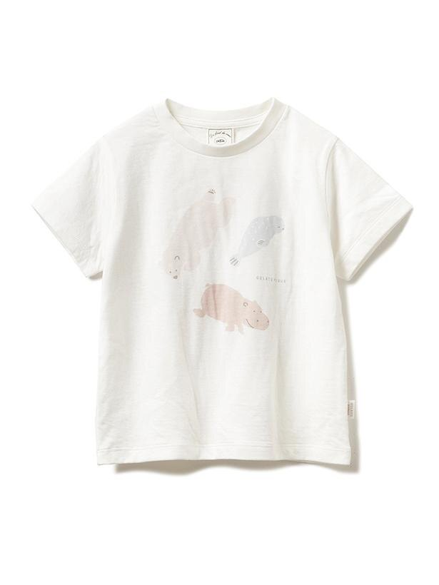 「ペイントアニマル kids Tシャツ」(3200円)。カラーはオフホワイトとベージュを用意