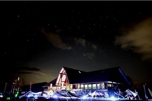 「日本一空気がきれいな星空」として認定される六呂師高原の外観