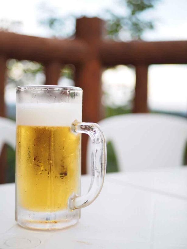 暑い夏に高尾山で飲むビールは格別
