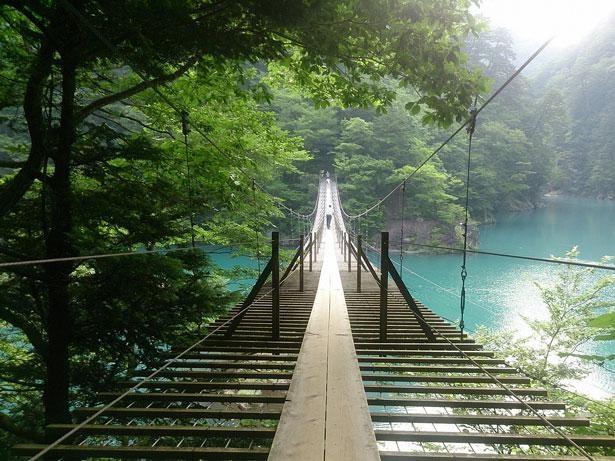 四季折々の風情漂う絶景吊り橋 「夢のつり橋(静岡県榛原郡)」