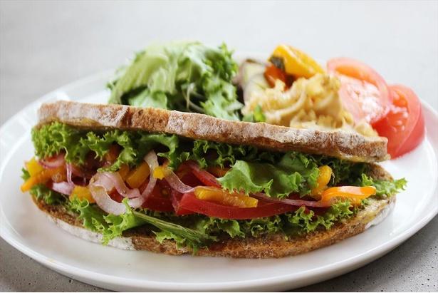 旬の野菜と特製ソースをたっぷり挟んだ「today's サンドウィッチ」