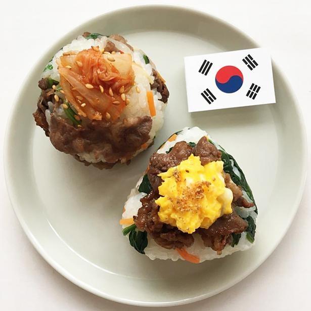 「韓国おにぎり」は「プルコギビビンバおにぎり」