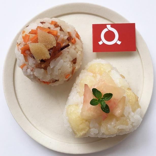 「福島おにぎり」は「いかにんじんおにぎり」と「桃おにぎり」