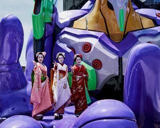 エヴァに乗れるアトラクションが京都に!高さ15mの初号機が映画村に登場