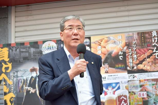 大阪市商店会総連盟理事長の千田忠司