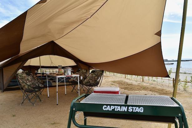 オートキャンプ場の『RECAMP りんくう』