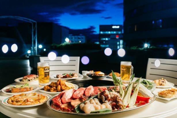 新横浜の夜景を眺めながら楽しむビアガーデン