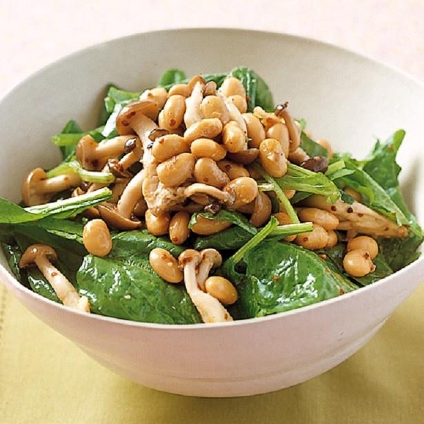 満月の日は、暴飲暴食にも注意。大豆を使ったサラダなら、食物繊維たっぷりで腹持ちも◎。食べすぎ防止に役立ちます