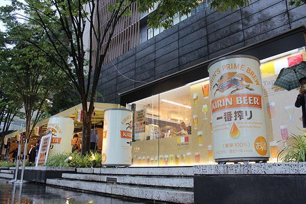 JR大阪駅前のグランフロント大阪うめきた広場にオープンした「クラフトビアガーデン 大阪」