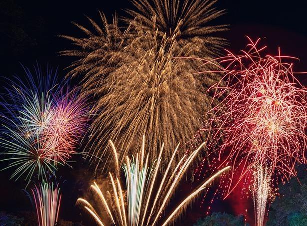 新型コロナウイルスの終息を願い、「アパリゾート上越妙高」で花火の打ち上げを行う