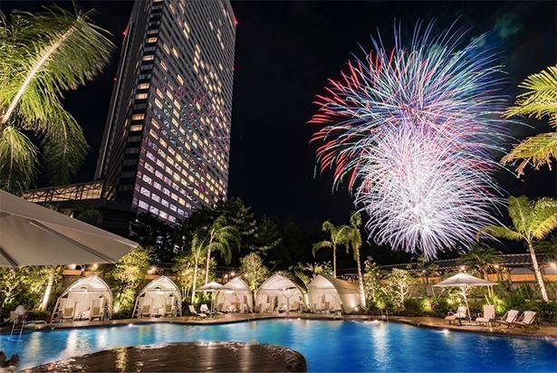 「シェラトン・グランデ・オーシャンリゾート」にて、毎日花火の打ち上げを実施
