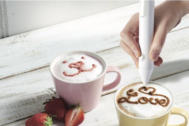 POWDER ART CAFE HARAJUKUでは自分で簡単にラテアートができる